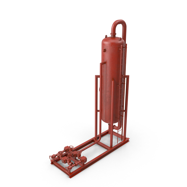 Refining: Vertical Oil and Gas Separator PNG & PSD Images
