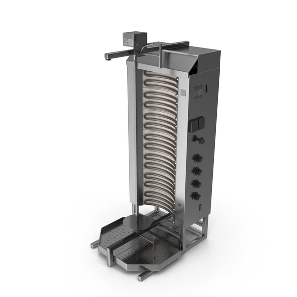 Machine: Vertical Rotisserie Grill For Doner Kebab PNG & PSD Images