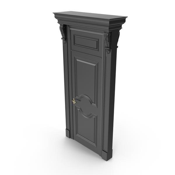 Victorian Black Door PNG & PSD Images