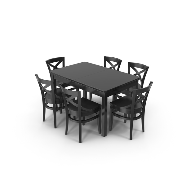 Dining Room: Vienn Chair and Table Set PNG & PSD Images