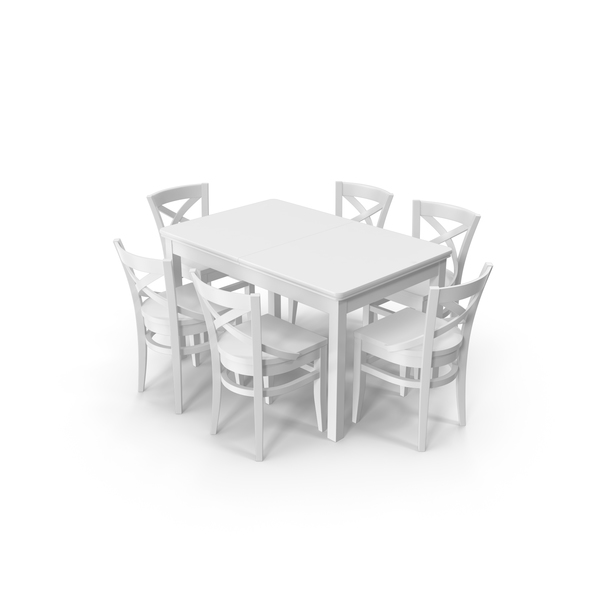 Dining Room Set: Vienn Table and Chairs PNG & PSD Images