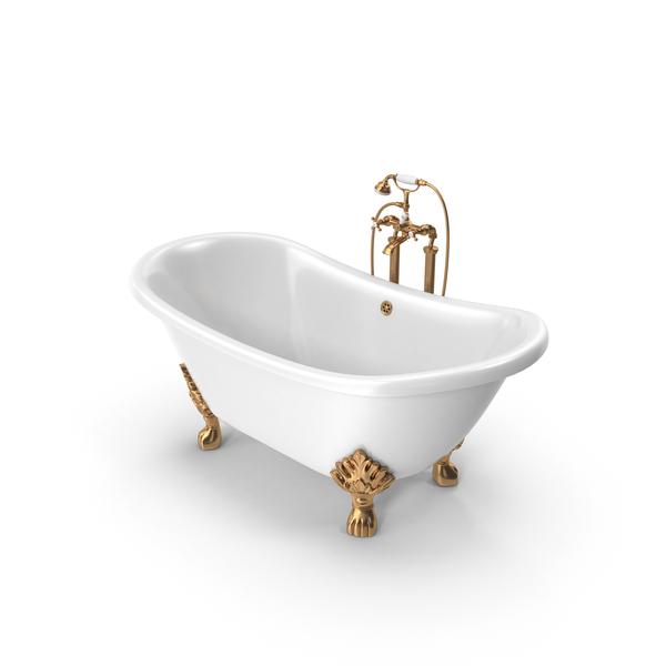 Vintage Bath Tub PNG & PSD Images