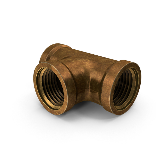 Industrial Pipes: Vintage Brass Pipe PNG & PSD Images