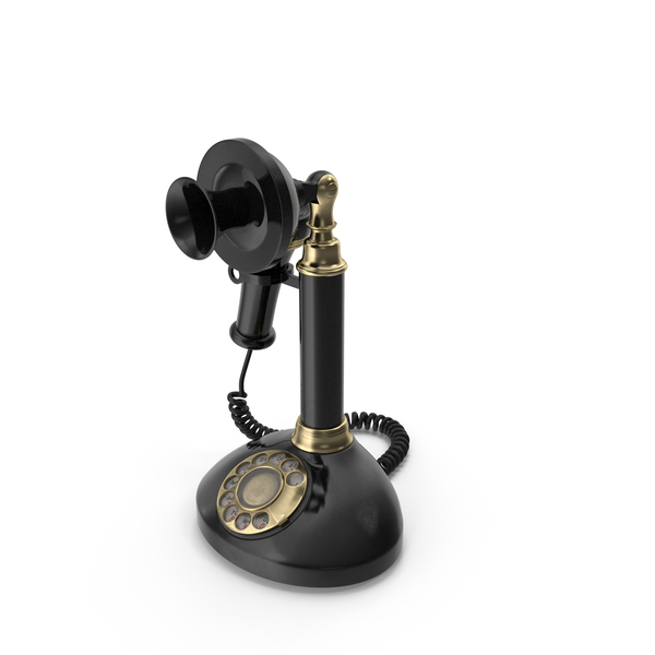 Phone: Vintage Candlestick Telephone PNG & PSD Images