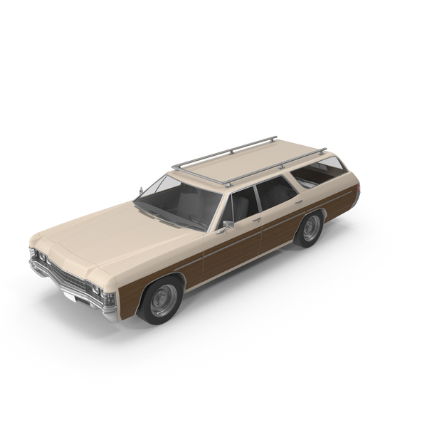 Station Wagon: Vintage Car Wood Side Cream PNG & PSD Images