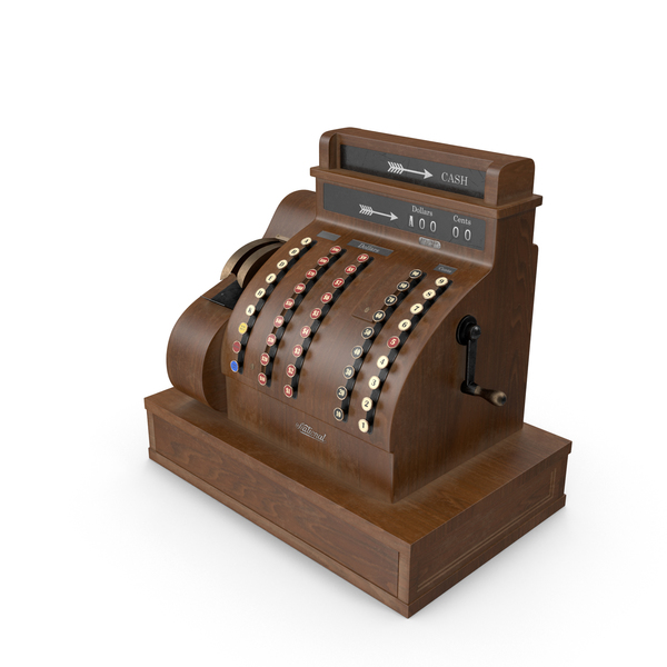 Vintage Cash Register PNG & PSD Images
