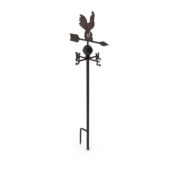 Vintage Cast Iron Rooster Weathervane PNG & PSD Images