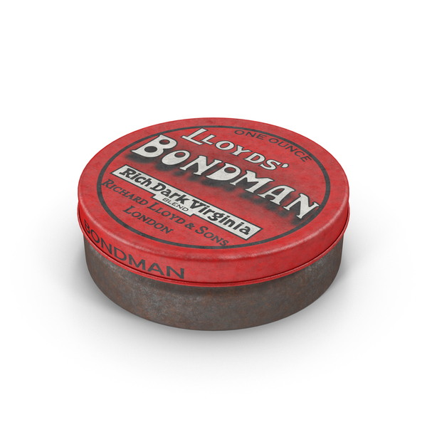 Vintage Chewing Tobacco Tin PNG & PSD Images