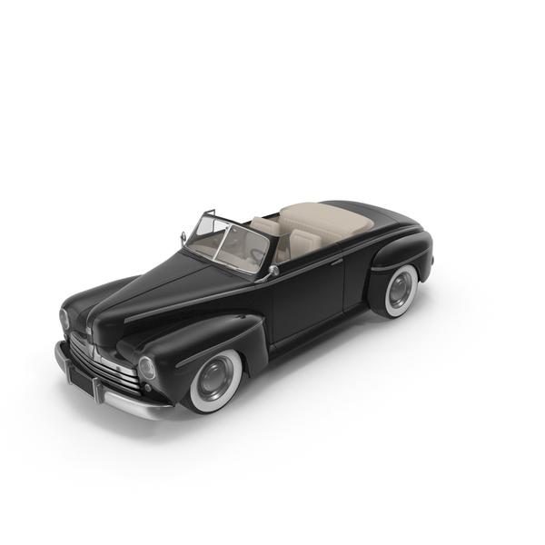 Vintage Convertible Car Black PNG & PSD Images