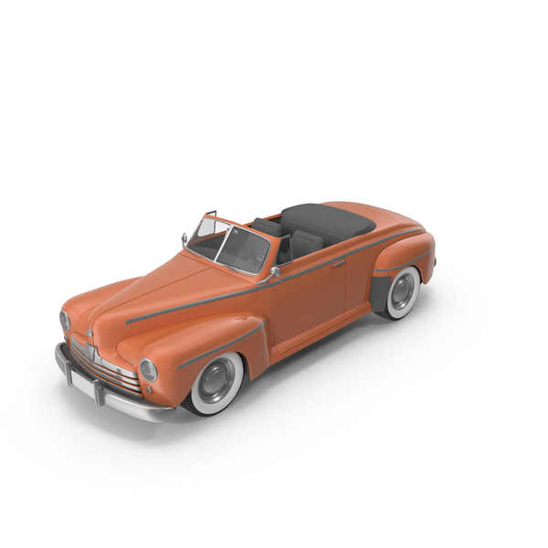 Vintage Convertible Car Orange PNG & PSD Images