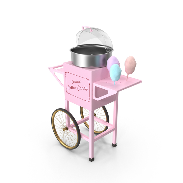 Vintage Cotton Candy Machine PNG & PSD Images