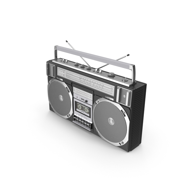 Vintage Crown Black Boombox PNG & PSD Images