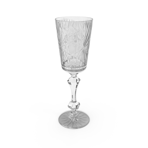 Vintage  Crystal Wine Glass Object