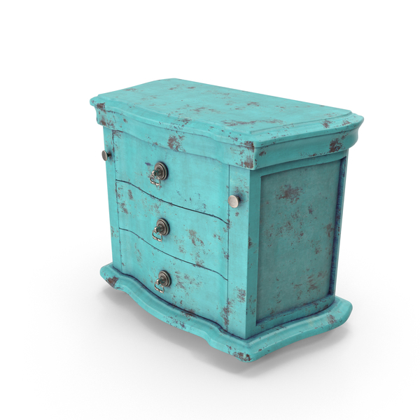 Vintage Dresser Blue PNG & PSD Images