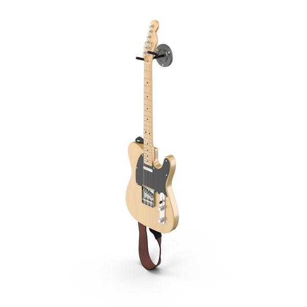 Vintage Electric Guitar On A Wall Mount Object