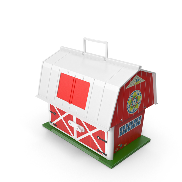 Doll House: Vintage Fisher Price Barn PNG & PSD Images