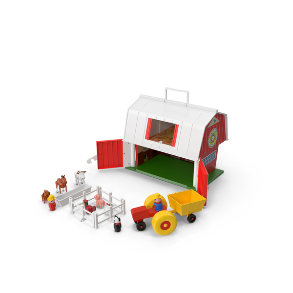 Doll House: Vintage Fisher Price Farm Set PNG & PSD Images