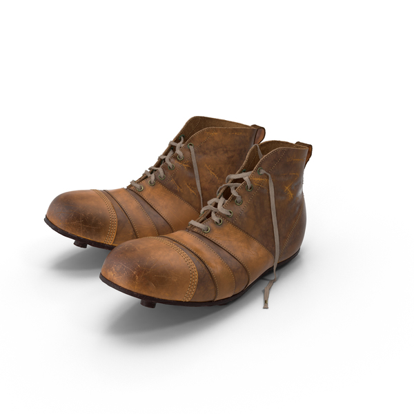 Cleats: Vintage Football Boots PNG & PSD Images