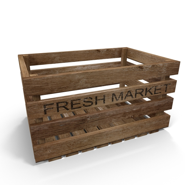 Vintage Fruit Crate PNG & PSD Images