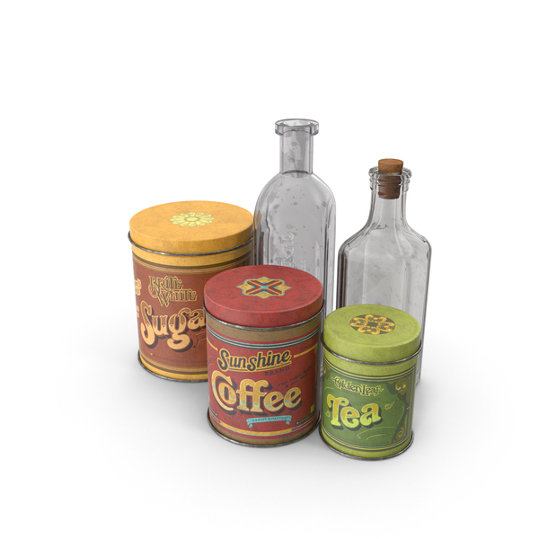 Vintage Kitchen Items PNG & PSD Images