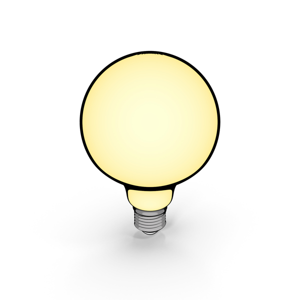 Lightbulb: Vintage Light Bulb Cartoon PNG & PSD Images