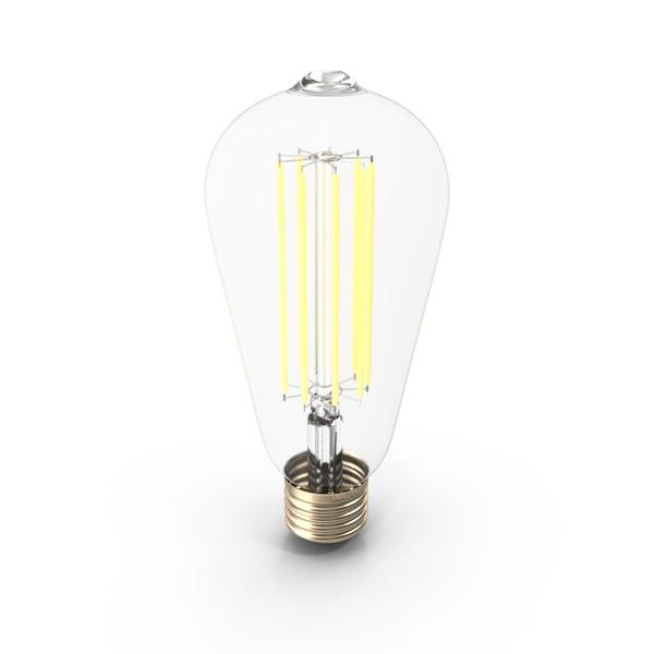 Incandescent: Vintage Light Bulb PNG & PSD Images