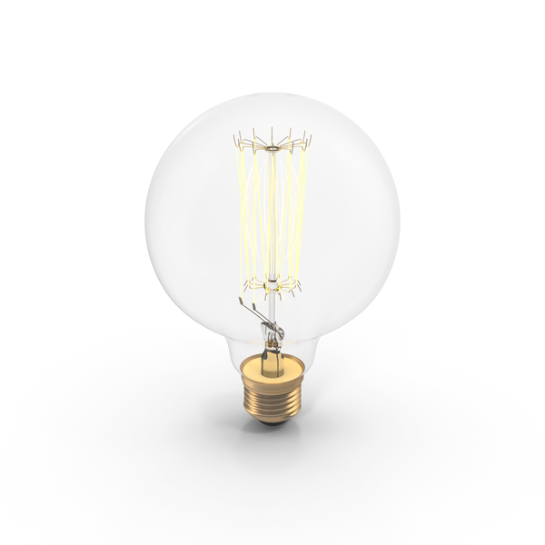 Vintage Light Bulb On PNG & PSD Images