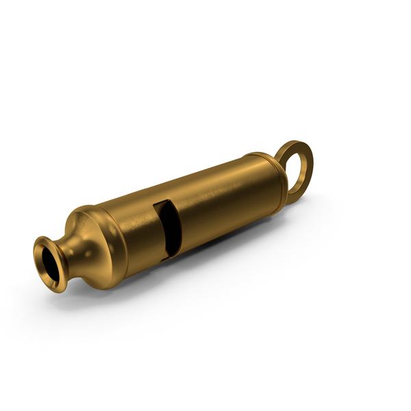 Police: Vintage Metropolitan Brass Whistle PNG & PSD Images