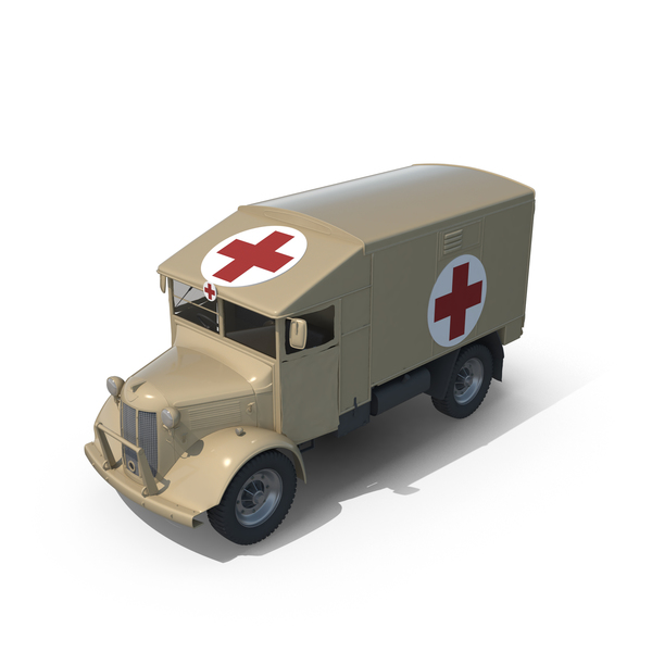 Vintage Military Ambulance PNG & PSD Images
