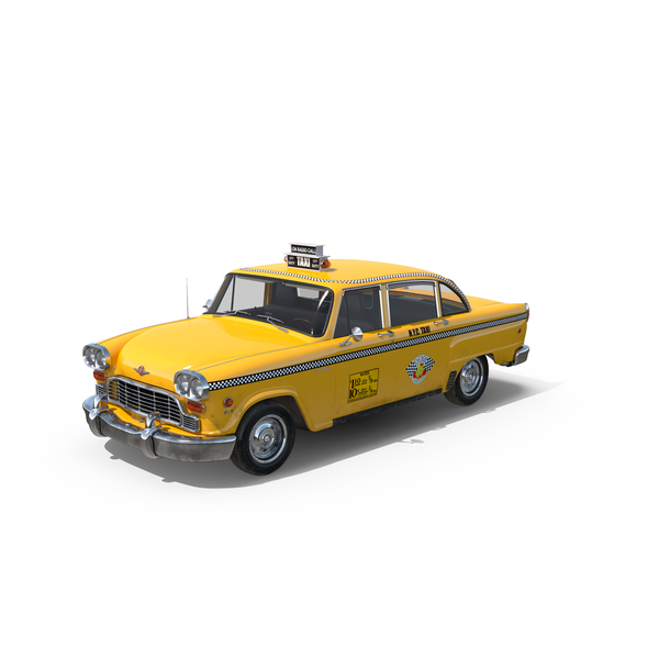 Vintage NYC Checker Taxi Object