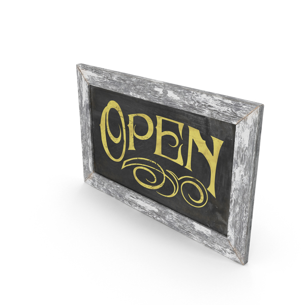 Vintage Open Sign PNG & PSD Images