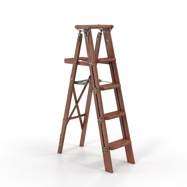 Vintage Painting Ladder PNG & PSD Images