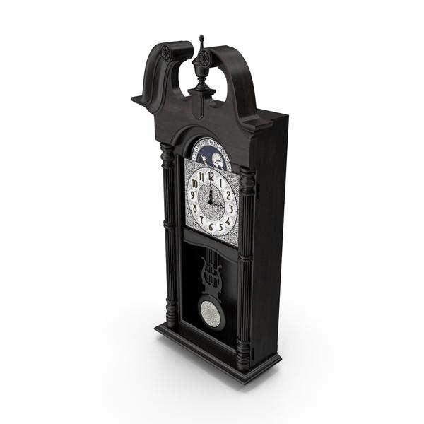 Vintage Pendulum Wall Clock PNG & PSD Images