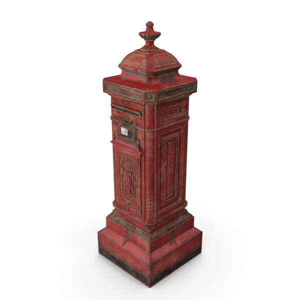 Vintage Post Box PNG & PSD Images