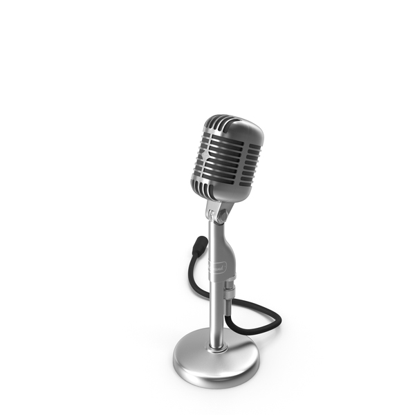 Vintage Retro Microphone PNG & PSD Images