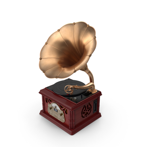 Phonograph: Vintage Retro Style Gramophone PNG & PSD Images