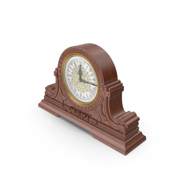 Vintage Table Clock PNG & PSD Images