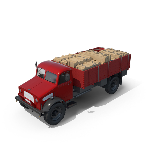 Vintage Truck Loaded PNG & PSD Images