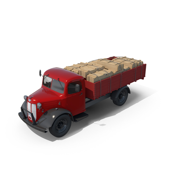 Semi Trailer: Vintage Truck PNG & PSD Images