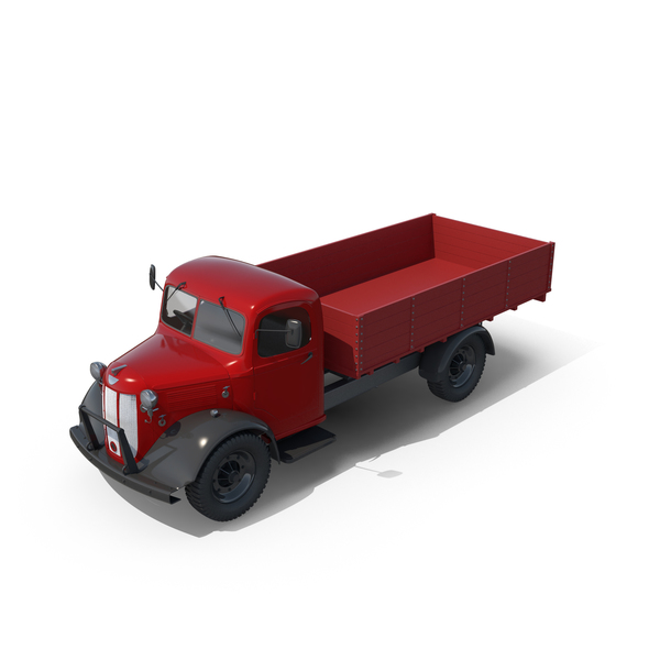 Vintage Truck Unloaded PNG & PSD Images