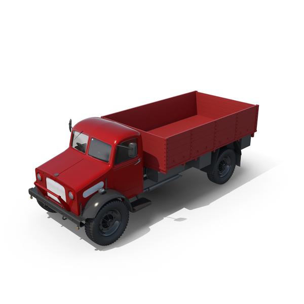 Loader: Vintage Truck Unloaded PNG & PSD Images