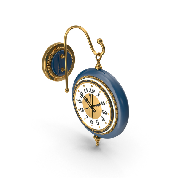 Street: Vintage Wall Clock PNG & PSD Images