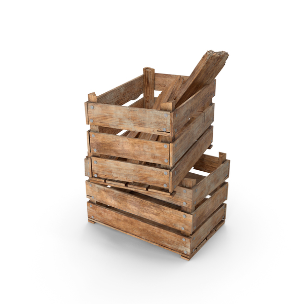 Vintage Wooden Box Crates PNG & PSD Images
