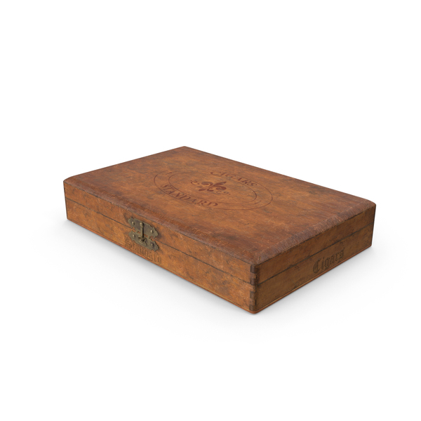 Vintage Wooden Cigar Box PNG & PSD Images