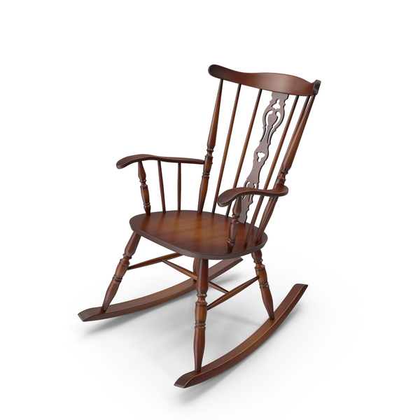 Vintage Wooden Rocking Chair PNG & PSD Images