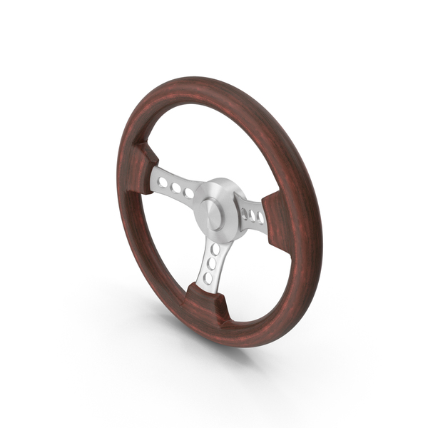 Vintage Wooden Steering Wheel PNG & PSD Images