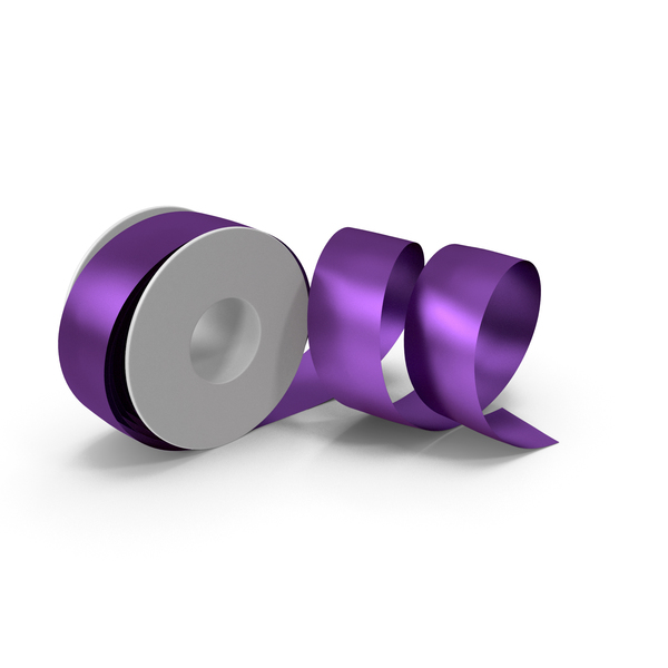 Violet Foil Ribbon Spool PNG & PSD Images