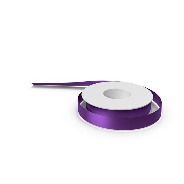 Violet Foil Ribbon Spool PNG & PSD Images