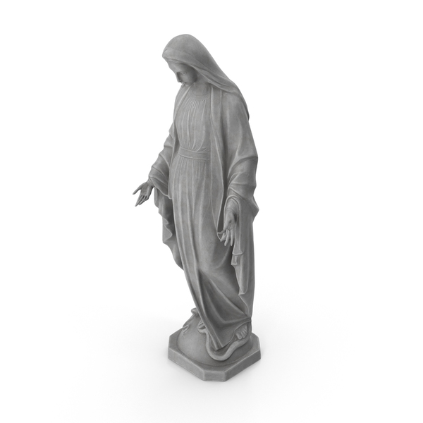 Virgin Mary Statue PNG & PSD Images
