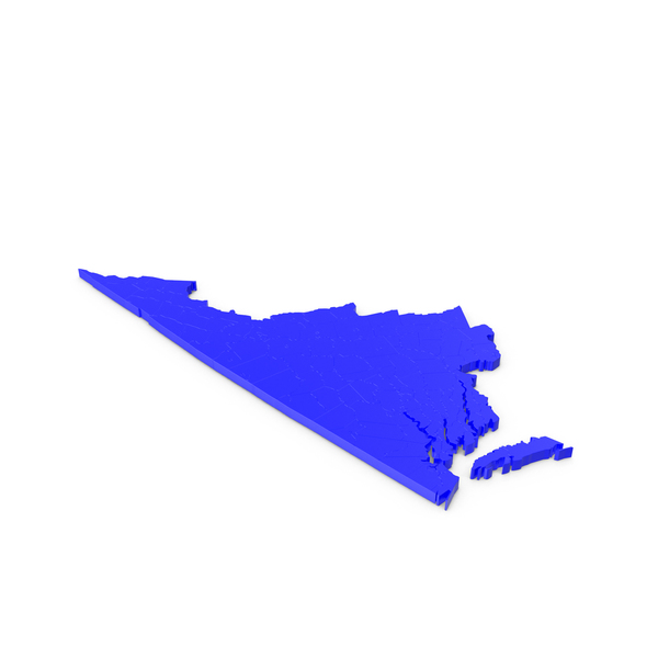 State: Virginia Counties Map PNG & PSD Images